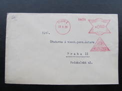 BRIEF Praha 1 Mautner Spinne Spider 1929 Frankotype Freistempel Postfreistempel /// N7645 - Cartas