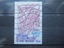 """VEND BEAU TIMBRE DE FRANCE N° 2140 , """" O """" DE """" COMBET """" BLEU !!! - Variétés: 1980-89 Oblitérés"""