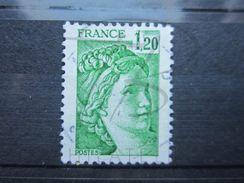 """VEND BEAU TIMBRE DE FRANCE N° 2101 ; TACHES DANS LE """" 1 """" !!! - Variétés: 1980-89 Oblitérés"""