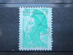 VEND BEAU TIMBRE DE FRANCE N° 2181 , FOND VERT !!! - Variétés: 1980-89 Oblitérés