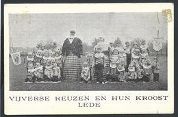 +++ CPA - LEDE - Vijverse Reuzen En Hun Kroost - Folklore Carnaval Fête   // - Lede