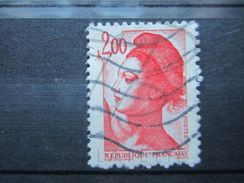 """VEND BEAU TIMBRE DE FRANCE N° 2274 , POINT DEVANT LE """" 2 """" !!! (b) - Variétés: 1980-89 Oblitérés"""