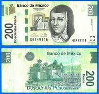 Mexique 200 Pesos 2014 Serie AZ Prefixe W Que Prix + Port Mexico Skrill Paypal Bitcoin OK - Mexico