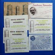Pubblicità Carta Assorbente - Lotto 7 Pezzi - Emulsioni - Gocce - Farmaceutica - Advertising