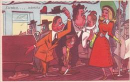 ARGENTINE, SIENTESE... SEÑORITA! ILLUSTRATION. BLOTTA Y FERRO. CIRCA 1940s. TBE-BLEUP - Humour