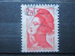 VEND BEAU TIMBRE DE FRANCE N° 2376 , BANDE PHOSPHORE A CHEVAL VERTICALEMENT !!! (c) - Variétés: 1980-89 Oblitérés