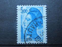 VEND BEAU TIMBRE DE FRANCE N° 2320 , BANDE PHOSPHORE A CHEVAL VERTICALEMENT !!! (b) - Variétés: 1980-89 Oblitérés
