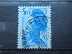 VEND BEAU TIMBRE DE FRANCE N° 2320 , BANDE PHOSPHORE A CHEVAL VERTICALEMENT !!! (c) - Variétés: 1980-89 Oblitérés
