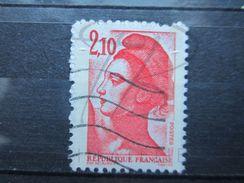 VEND BEAU TIMBRE DE FRANCE N° 2319 , BANDE PHOSPHORE A CHEVAL VERTICALEMENT !!! (a) - Variétés: 1980-89 Oblitérés