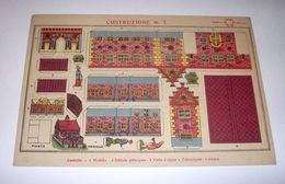 Marca Stella Originale Gioco Costruzioni N° 7 Castello - 1930 Ca. - Giocattoli Antichi