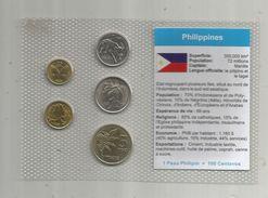 Monnaie , Philippines , FDC Sous Blister D'origine ,  Monnaies En Sentino Et Piso , Blister De 5 PIECES - Filipinas