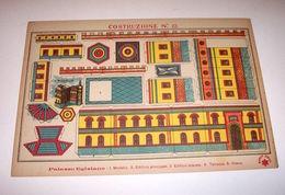 Marca Stella Originale Gioco Costruzioni N° 22 Palazzo Egiziano - 1930 Ca. - Giocattoli Antichi