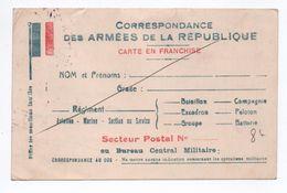 CARTE DE FRANCHISE MILITAIRE FM DRAPEAUX - Marcophilie (Lettres)