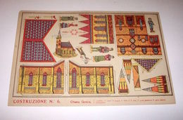 Marca Stella Originale Gioco Costruzioni N° 6 Chiesa Gotica - 1930 Ca. - Giocattoli Antichi