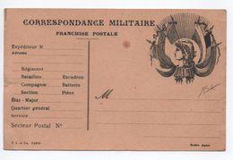 1917 - CARTE DE FRANCHISE MILITAIRE FM DRAPEAUX - Marcophilie (Lettres)