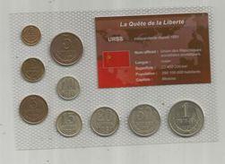 Monnaie , URSS , FDC Sous Blister D'origine ,  Monnaies En KOPECK ET ROUBLE , Blister De 9 PIECES - Russie