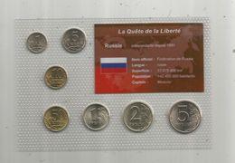 Monnaie , Russie , FDC Sous Blister D'origine ,  Monnaies En KOPECK ET ROUBLE , Blister De 7 PIECES - Russie