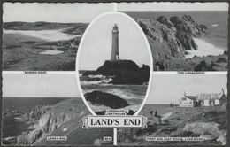 Multiview, Land's End, Cornwall, 1962 - Postcard - Land's End