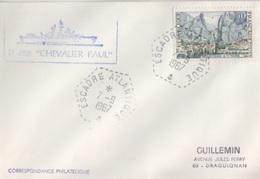 D 626 Chevalier Paul, Cachet Hexagonal Escadre Atlantique 7/9/67 - Postmark Collection (Covers)
