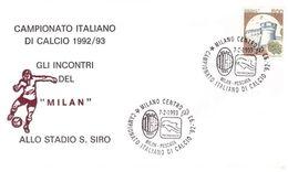 Campionato Di Calcio1993: Stadio S. Siro MILAN PESCARA -  No Viaggiata;  AS - F.D.C.