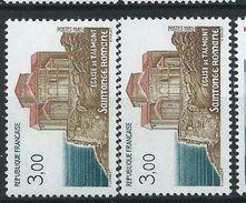[17] Variété : N° 2352 église De Talmont Brun Clair + Normal  ** - Varieties: 1980-89 Mint/hinged