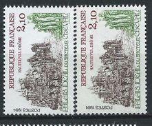 [17] Variété : N° 2324 Hauterives Vert-jaune Au Lieu De Vert + Normal  ** - Varieties: 1980-89 Mint/hinged