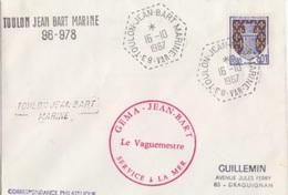 Toulon Jean Bart Marine, Cachet Hexagonal (idem) 16/10/67 + Marque Linéaire Et Vaguemestre - Postmark Collection (Covers)