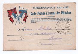 1915 - CARTE DE FRANCHISE MILITAIRE FM DRAPEAUX - TRESOR ET POSTES *137* - Marcophilie (Lettres)