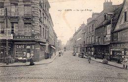 Cpa Caen 14 Calvados Rue D 'auge - Caen