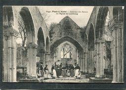 CPA - PONT L'ABBE - Intérieur Des Ruines De L'Eglise De Lambourg, Animé - Pont L'Abbe
