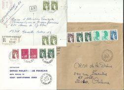 "6 L (dont 2 Lr ) Avec Des ""SABINE"" En Affranchissements............à Voir....... - 1977-81 Sabine Of Gandon"