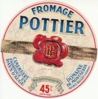 Etiquette De Fromage Pottier. Domaine De Montaudin. - Fromage