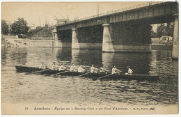 "Aviron Asnieres Equipe Du "" Rowing Club "" - Aviron"