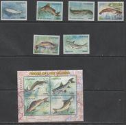 UGANDA ,2005,MNH, FISH, FISH OF LAKE VICTORIA, 6v+SHEETLET - Vissen