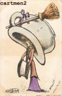 ILLUSTRATEUR MOLYNCK POT DE CHAMBRE FEMME AU CHAPEAU HUMOUR CARICATURE - Illustratori & Fotografie