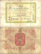STTRATS SETTLEMENTS - 10 CENTS (1919-20) - Pick 6c TB (VG/F) - Billets