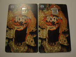 2 Chip Phonecards From Indonesia - Mask - Indonesia