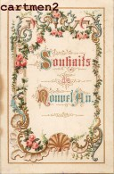 CALENDRIER SPIRITUEL A VOLET XIXeme : RELIGION IMAGE PIEUSE CANIVET SANTINI - Calendars