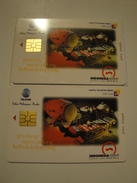 2 Chip Phonecards From Indonesia - Music - Indonesia
