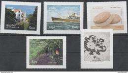 PORTUGAL , MADEIRA , 2015, MNH, SHIPS, BIRDS, EUROPA, TREES, BREAD, 5v SELF-ADHESIVE - Ships