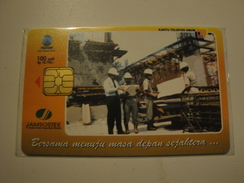 1 Chip Phonecards From Indonesia - Building - Indonesia