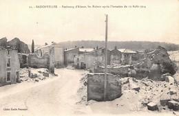 (54) Badonviller - Faubourg D'Alsace Les Ruines Après L'invasion Du 12 Août 1914 - Autres Communes