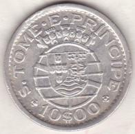 Colonie Portugaise .SAO TOME E PRINCIPE .10 Escudos  1951 . Argent - Sao Tome Et Principe