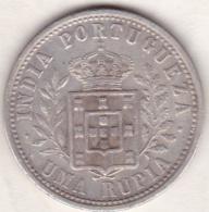 Colonie Portugaise, India-Portuguese, Uma Rupia 1903. Carlos I . Argent .KM# 17 - India