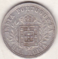 Colonie Portugaise, India-Portuguese, Uma Rupia 1903. Carlos I . Argent .KM# 17 - Indien