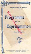 75- PARIS- RARE PROGRAMME DE LA TOUR EIFFEL- G.QUINSON-LUCY DEREYMON-NEWA CATROUX-JEAN BATAILLE-1906-DOLCET-HENRI GIRARD - Programs