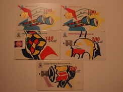5 Chip Phonecards From Indonesia - Music Instrument - Indonesia
