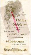 75- PARIS- RARE PROGRAMME THEATRE GREVIN- 10 BD. MONTMARTRE-JOSE RAIDICH PIANISTE TOUR EIFFEL- NELLSON-PHILIPPON-VOLGA - Programmes