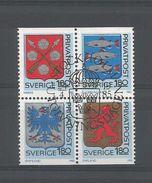 Sweden 1985 Arms 4-block Y.T. 1312/1315 (0) - Sweden