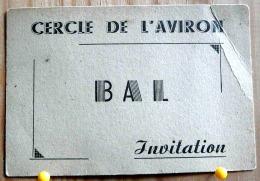 INVITATION DU CERCLE DE L'AVIRON DE NANTES  POUR LE BAL DU 18 OCTOBRE 1947 CAN SCAN R/V - Announcements